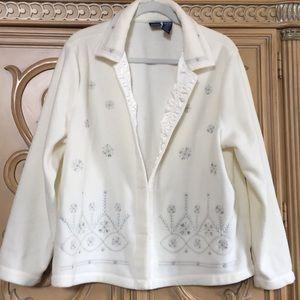 Basic Edition jacket w/sparkly silver snowflake xl